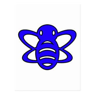 El abejorro o manosea el azul de la avispa de rein tarjeta postal