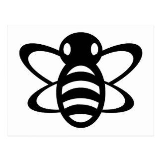 El abejorro o manosea negro de la avispa de reina  postales