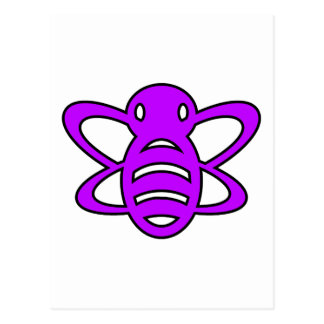El abejorro o manosea púrpura de la avispa de rein postales