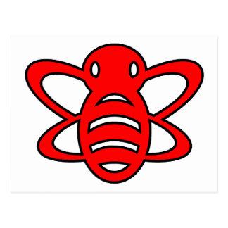 El abejorro o manosea rojo de la avispa de reina d postales