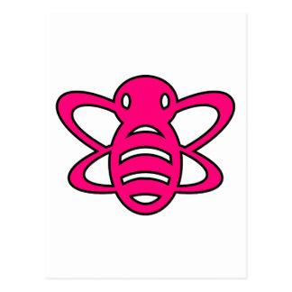 El abejorro o manosea rosa de la avispa de reina d postal