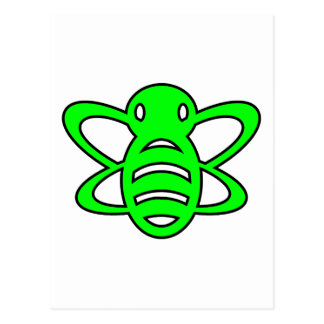 El abejorro o manosea verde de la avispa de reina  tarjetas postales