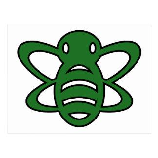 El abejorro o manosea verde de la avispa de reina  postal