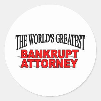 El abogado arruinado más grande del mundo etiqueta redonda