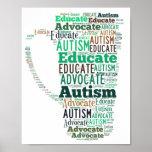 El abogado del autismo educa el poster GoTeamKate