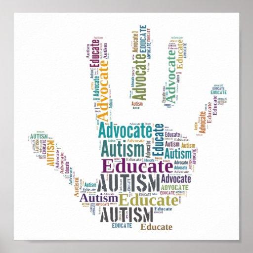 El abogado del autismo y educa el poster GoTeamKat
