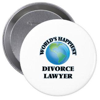 El abogado del divorcio más feliz del mundo chapa redonda 10 cm