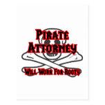 El abogado del pirata… trabajará para el botín tarjeta postal