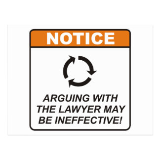 El abogado/discute postales