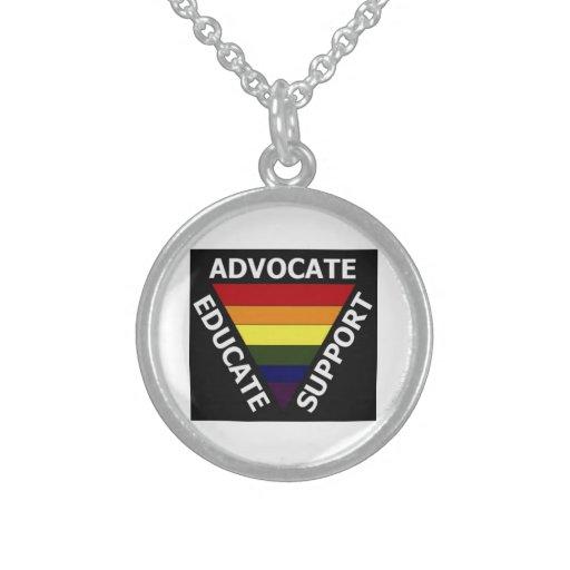 El abogado educa los derechos de los homosexuales collares de plata esterlina