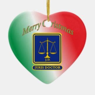 El abogado JD escala el escudo Adorno Navideño De Cerámica En Forma De Corazón