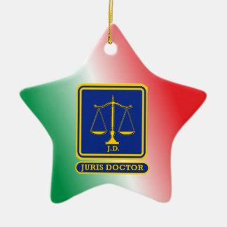 El abogado JD escala el escudo Adorno Navideño De Cerámica En Forma De Estrella