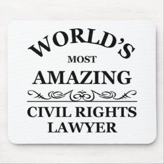 El abogado más asombroso de las derechas civiles d mousepad