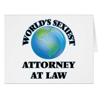 El abogado más atractivo en la ley del mundo tarjetón
