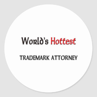 El abogado más caliente de la marca registrada del etiqueta redonda