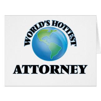 El abogado más caliente del mundo tarjeta