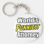 El abogado más divertido del mundo llaveros personalizados
