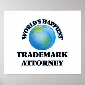El abogado más feliz de la marca registrada del póster