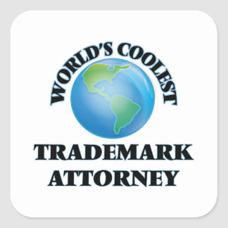 El abogado más fresco de la marca registrada del calcomanía cuadradas personalizadas