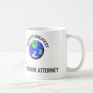 El abogado más grande de la marca registrada del taza básica blanca