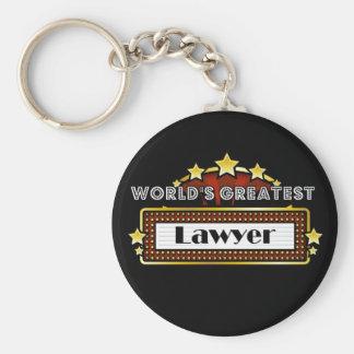 El abogado más grande del mundo llavero redondo tipo pin