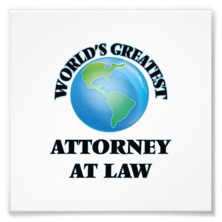 El abogado más grande en la ley del mundo impresion fotografica