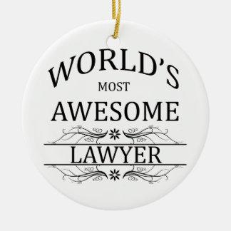 El abogado más impresionante del mundo adorno navideño redondo de cerámica