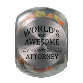 El abogado más impresionante del mundo frascos cristal