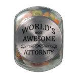 El abogado más impresionante del mundo frascos de cristal
