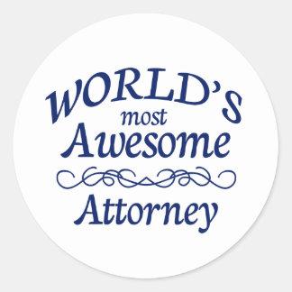 El abogado más impresionante del mundo pegatina redonda