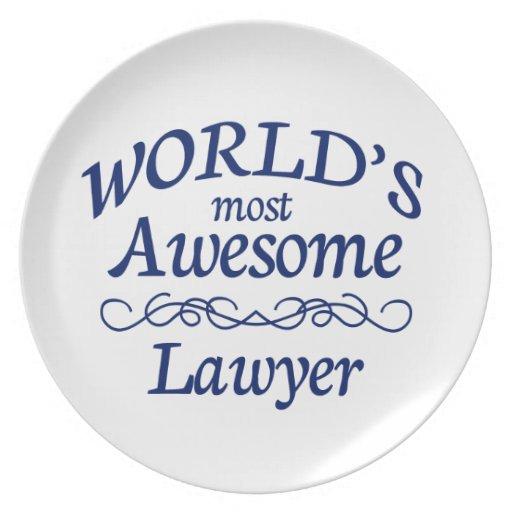 El abogado más impresionante del mundo platos
