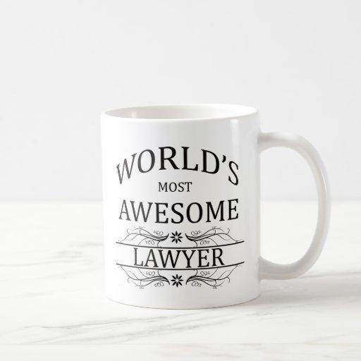 El abogado más impresionante del mundo tazas de café