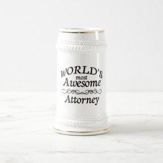 El abogado más impresionante del mundo tazas