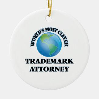 El abogado más listo de la marca registrada del adorno navideño redondo de cerámica