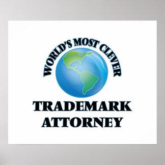 El abogado más listo de la marca registrada del impresiones