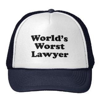 El abogado peor del mundo gorros bordados