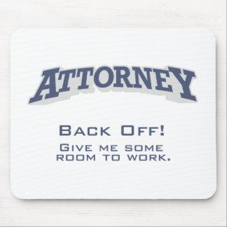 El abogado/retrocede alfombrilla de raton
