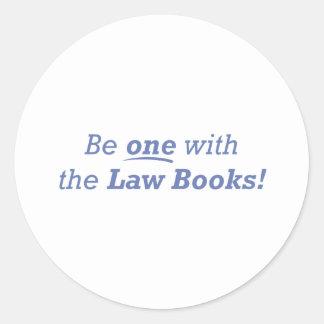 El abogado/sea uno etiqueta redonda