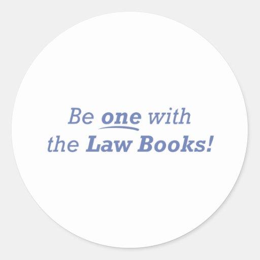 El abogado/sea uno pegatina redonda