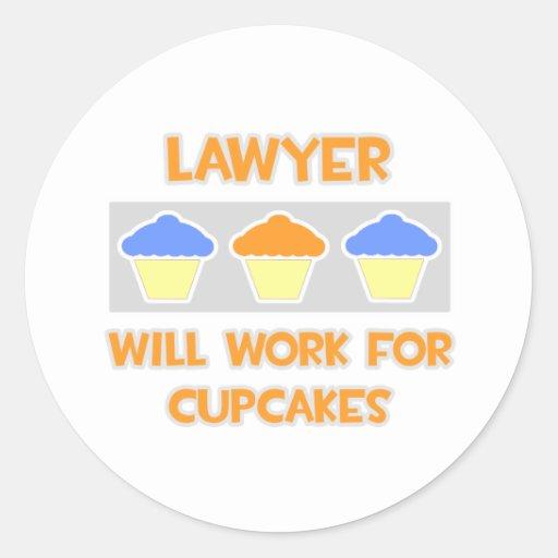 El abogado… trabajará para las magdalenas pegatina redonda