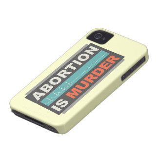 El aborto es asesinato iPhone 4 protectores
