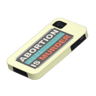 El aborto es asesinato iPhone 4/4S funda