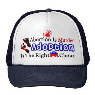 El aborto es asesinato gorro