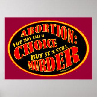 El aborto es asesinato posters