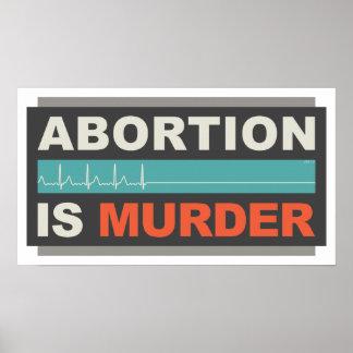 El aborto es asesinato póster