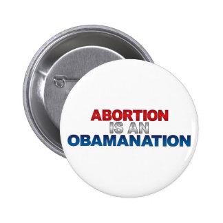 El ABORTO ES un botón de OBAMANATION Pins