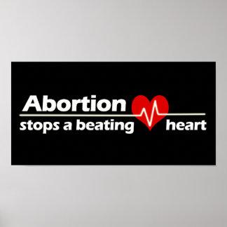 El aborto para un corazón de derrota, antiabortist póster