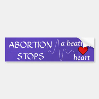El aborto para un corazón de derrota pegatina para auto
