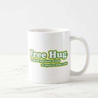 El abrazo libre abraza la novedad de la parodia taza de café