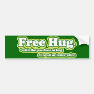 El abrazo libre abraza la parodia pegatina para auto